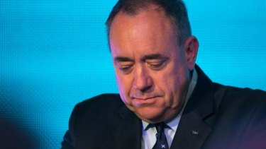 First Minister Alex Salmond concedes defeat.