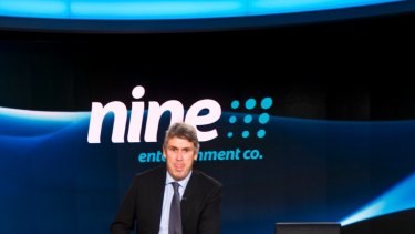 Nine Entertainment shares have plummeted 24.7 per cent since news of the profit downgrade hit the market.