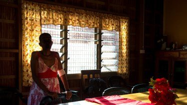 Domestic violence survivor Alice* at the only refuge for women and children in the Solomon Islands.