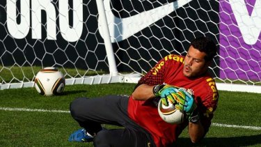 """Goalkeeper Julio Cesar ... said the Jabulani was like """"a ball you'd buy in a supermarket""""."""