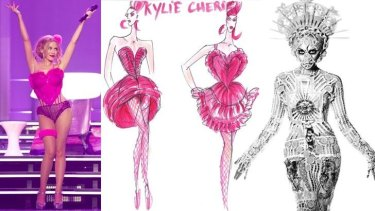 Mutual attraction: Superstar Kylie Minogue and designs by the legendary Jean Paul Gaultier.