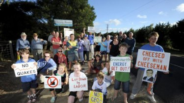 People power: Gherang residents are against the proposed geothermal power plant.