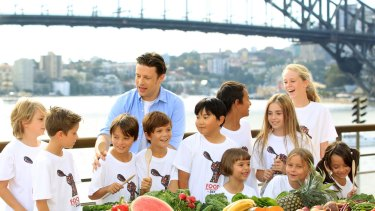 Celebrity chef Jamie Oliver is one of the few celebrities to endorse healthy food and drink.