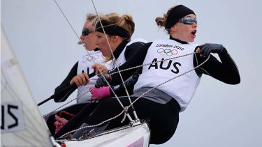 Great potential ... Australian sailor Olivia Price, front, was identified early as an Olympic contender.