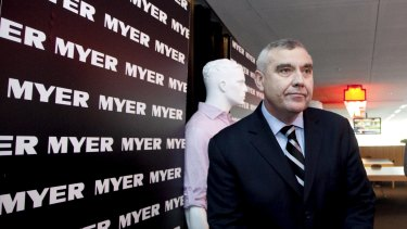 Myers share price dropped almost 10 per cent following the announcement that Bernie Brookes was stepping down as CEO.