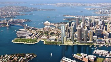 An impression of the proposed Barangaroo development.