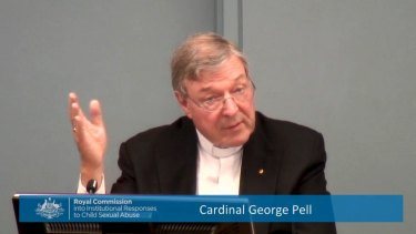George Pell has been excused from appearing in person.