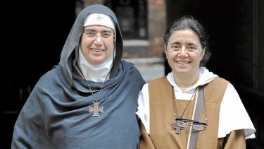 Match made in heaven ... Mother Agnes Mariam and Sister Carmel.