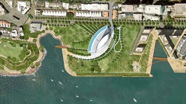 Taking a punt … an artist's impression of James Packer's hotel-casino proposed for Barangaroo.
