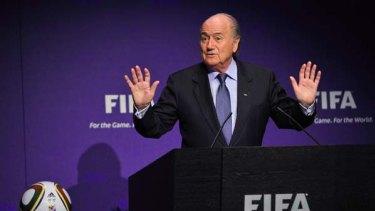 No news is good news ... Sepp Blatter addresses the media.