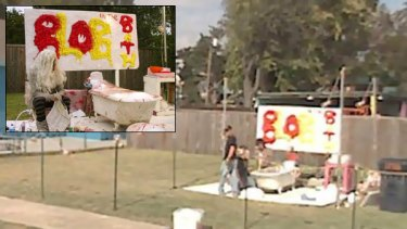 The scene on Google Maps and, inset, regular photographs from the Flaming Lips MySpace page.