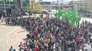 Over 1000 people gathered in Perth for a Pokemon treasure hunt.