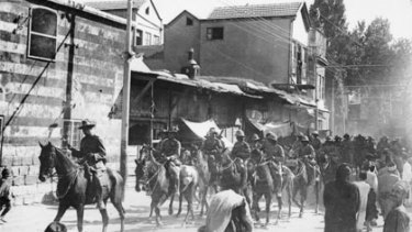 ''The Great Ride'' ... Lieutenant-General Sir Harry Chauvel  in Damascus at the head of the Australian Army Light Horse in November 1918.