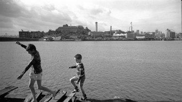Boys playing in Balmain, Sydney, 1967.