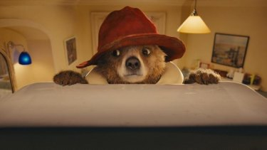 Paddington Bear, as imagined in the movie with the aid of CGI.