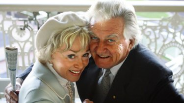 Blanche D'Alpuget and Bob Hawke.