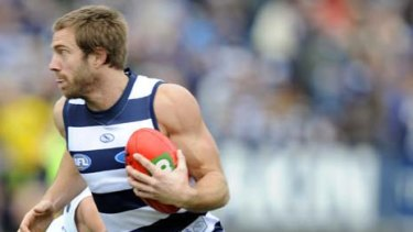 Geelong's Joel Corey will miss tonight's match against the Western Bulldogs with a calf injury.