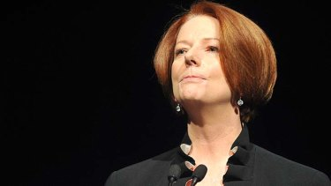 Had enough ... Julia Gillard.