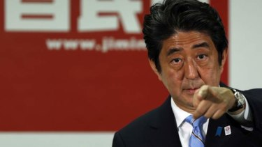 Japan's Prime Minister and the leader of the ruling Liberal Democratic Party (LDP) Shinzo Abe.