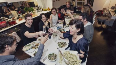 'A dinner party at home is more welcoming and generous, you can sit around talking until 3am without the waiters staring at you to get out of the restaurant,' says Catherine Walsh.