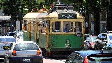 A W-Class Tram on Chapel Street, South Yarra.