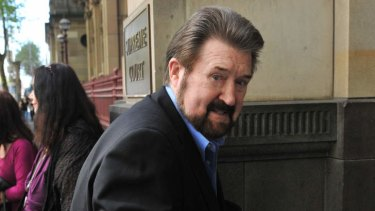Derryn Hinch arrives at the Supreme Court last month.