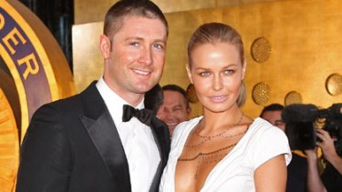 Split ... Lara Bingle and Michael Clarke.