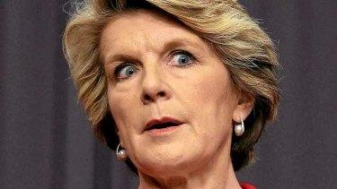 Foreign Affairs Minister Julie Bishop.