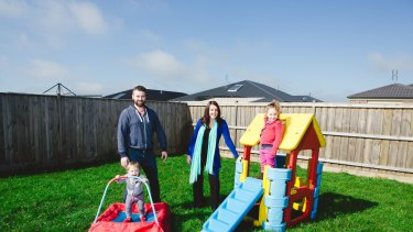 New residents: Michael and Ali Beamish with daughters  Anneke, 1, and Ainslie, 3.