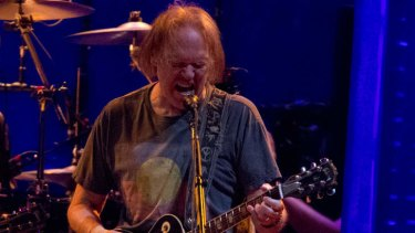 Neil Young at the Brisbane Entertainment Centre.