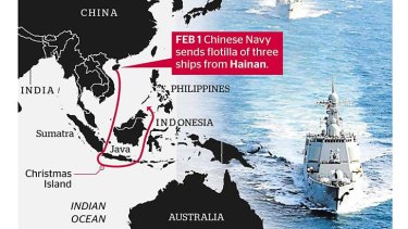 A growing power: China's military presence.