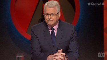 Tony Jones is the regular hoist of Q&A.