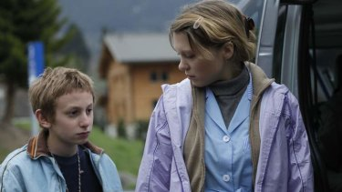Kacey Mottet Klein and Lea Seydoux in <i>Sister</i>.