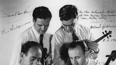 World-class chamber music... the first Musica Viva ensemble, from left, Richard Goldner, Eddie Cockman, Robert Pikler and Theo Salzman.