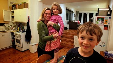 Helen Perks with four-year-old Eva and seven-year-old Max.