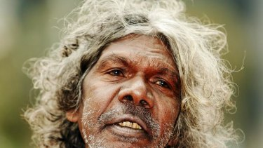 Actor David Gulpilil on the red carpet at the opening of Screen Worlds - The Story of Film, Television & Digital Culture at the Australian Centre for the Moving Image.