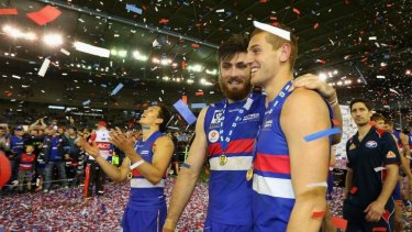 Scenes of jubilation were everywhere after Footscray's  win.