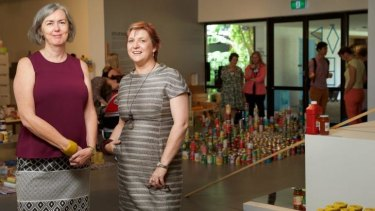 """""""We don't want hollow promises or shiny white elephants"""": Penrith Performing and Visual Arts chief executive Hania Radvan, right, with gallery director Dr Lee-Anne Hall."""