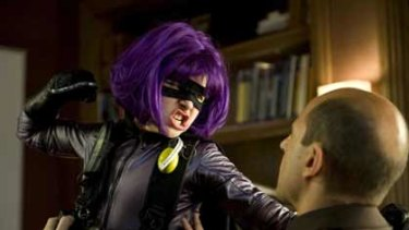 In your face ... in Kick-Ass  Chloe Moretz plays Hit-Girl, a violent 11-year-old superhero.