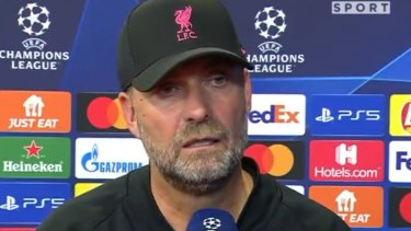 Liverpool manager Jurgen Klopp takes offence to an interviewer's line of questioning.