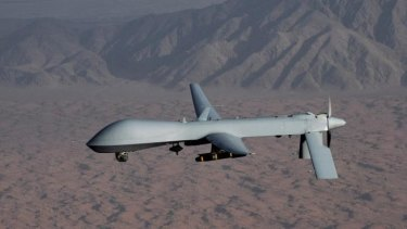 "A US Air Force MQ-1 Predator. Australia ""should consider"" acquiring attack drones for use in ""in extreme cases""."