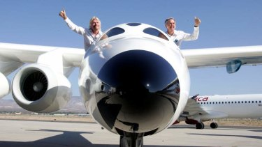 Virgin Galactic founder Sir Richard Branson, left, is part of a new plan to lauch a reality show called <i>Space Race</i>.