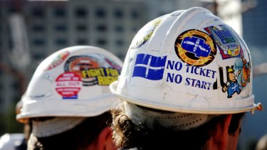 The code of conduct will crack down on the display of union logos, and mottos such as 'no ticket, no start'.