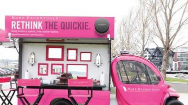 "Bare Escentuals' ""quickie vans"" are offering snappy makeovers across the US."