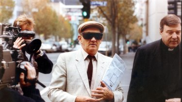 George Pell (right) with now-disgraced priest Gerald Ridsdale  in 1993.