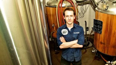 Like father … Andrew Robson produces several 600-litre batches a week.