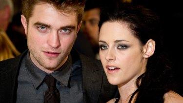 Kristen Stewart with Robert Pattinson.