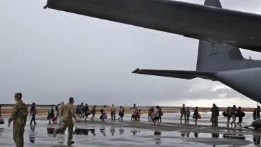 The RAAF delivers aid to the Philippines after the devastation of typhoon Haiyan in November last year.