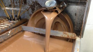 Some of the machinery at work at John Walker Chocolatier.