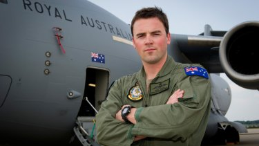 "RAAF Flight Lieutenant Dave Whyte: ""All of us involved are just trying to make the best of a terrible situation."" <i>Photo: Dan Hatch</i>"